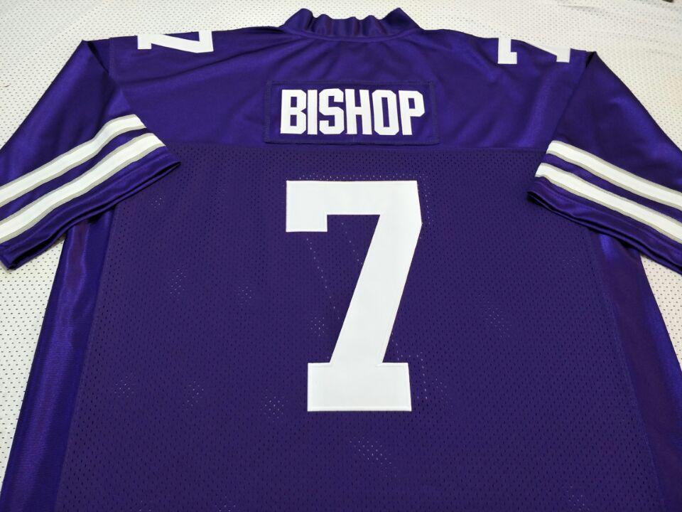 las mujeres de Hombres jóvenes Vintage Rare Kansas State Wildcats Michael Bishop # 7 Jersey de fútbol de tamaño s-4XL o costumbre cualquier nombre o el número del jersey