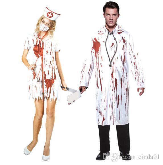 Du Femmes Thème Infirmière Hommes Sanglant Robe 1 Costume Cosplay De Docteur Vêtements Derrick1 Acheter Tenue Soirée59 Halloween PwOXilkuZT