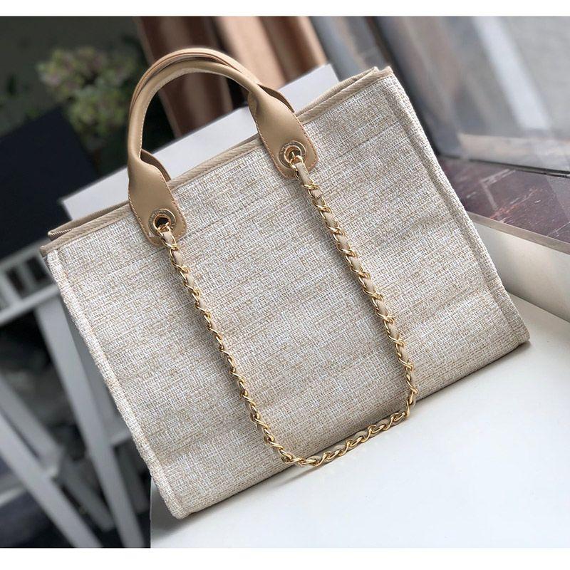 Женщины роскошные сумки хозяйственные сумки высокое качество модельер сумка большой тотализатор с цепью бренд пляжная сумка