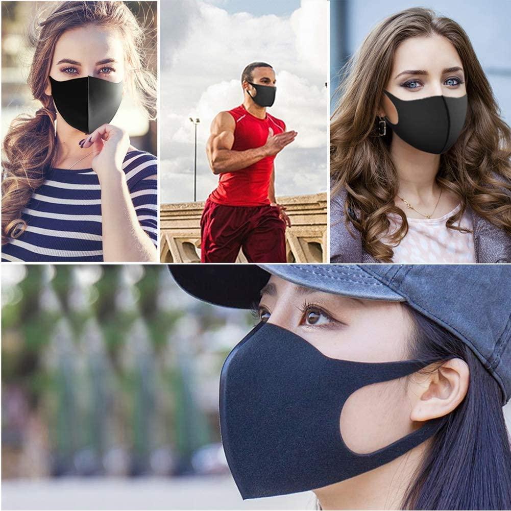 Anti Staub Gesichtsmundschutz PM2.5 Mask Respirator Staubdichtes Antibakteriell Waschbar Wiederverwendbare Sponge Masken-Werkzeug für Erwachsene
