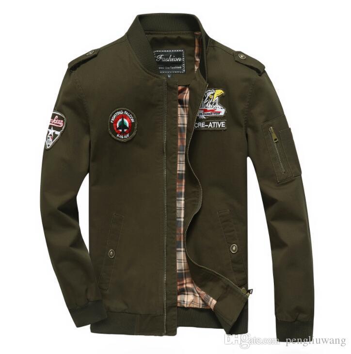 Baumwolle Militärjacke Männer Freizeitkleidung Frühling Herbst Jaqueta Masculina Chaqueta Hombre Casaco Masculino Herren Jacken und Mäntel 566