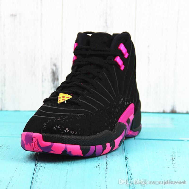 2020Doernbecher Hommes Chaussures de basket-12s Db Carissa Hyper Violet Noir Violet Chaussures de sport avec des chaussures boîte Xz112
