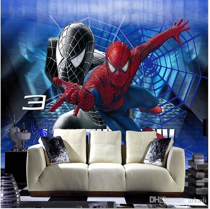 5d Custom Wallpaper Modern Large Scale 3d Animation Spiderman Sofa Bedroom Tv Backdrop Wallpaper Arkadi Moving Wallpapers Mural Wallpaper From Arkadi