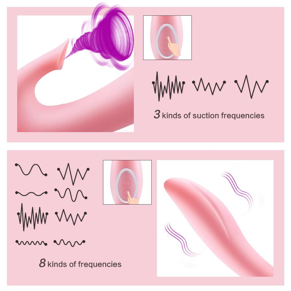 12 Geschwindigkeit Realistische Klitoris Vibratoren Vibratoren Lecken Dildo Sex Zunge Sex-Stimulator G Spielzeug SH190731 Erwachsene Spot Oral für Frauen Saugkin QGOF