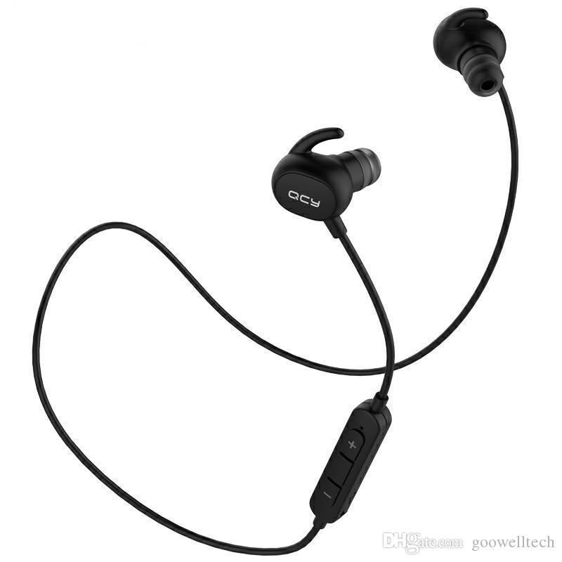 QCY QY19 IPX4 Потолочные наушники Bluetooth 4.1 Беспроводные спортивные наушники с наушниками Aptx Стереогарнитура с микрофоном