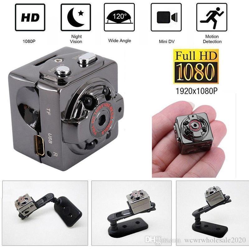 적외선 나이트 비전 모션 감지 실내 실외 스포츠 휴대용 캠코더와 SQ8 HD 1080P 미니 포켓 카메라 비디오 레코더