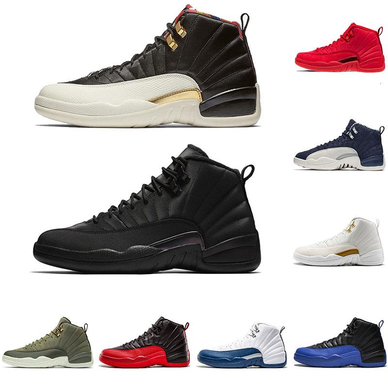 Bulls Gym Red XII Mens Basketball Shoes 12s Bulls OVO Black Nylon White CNY Winterized WNTR the master wool taxi Designer Sports Sneakers