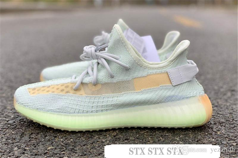 M15 Hot Kanye West Antlia GID Glow In The Dark Clay Black Static Clay Running Shoes Men and Women V2 Designer Sneakers