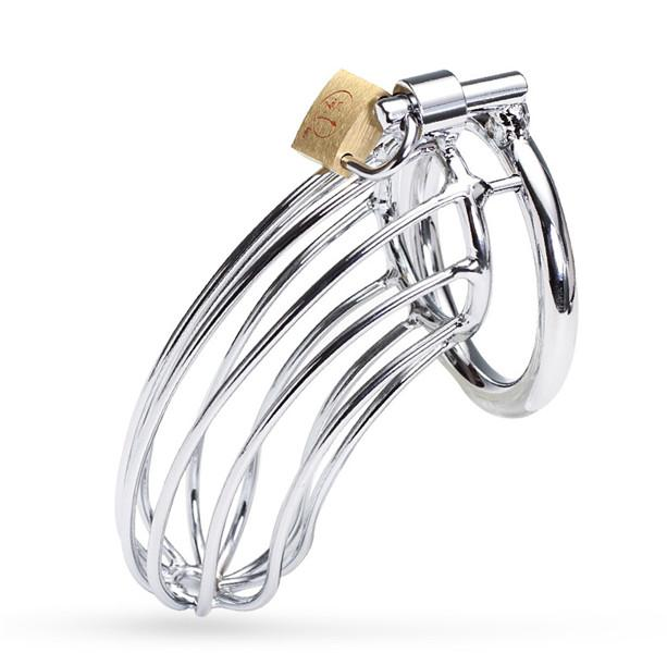 Male Chastity Devices Stainless Steel Cock Cage For Men Metal Chastity Belt Penis Ring Sex Toys Cock Lock Bondage Adult Products