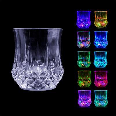 LED parpadeante que brilla Vino Vaso de cerveza taza de la taza de agua líquida activado enciende arriba tazas de bebidas luminoso barra del partido