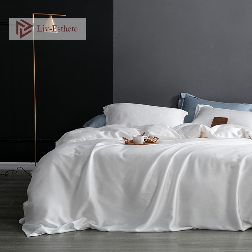 ليف-إسذيت 100٪ الحرير 25 Momme الحرير الخالص نسيج الطبيعية الرئيسية الفراش غطاء لحاف المخدة لا ورقة المفرش غطاء سرير مجموعة CY200519