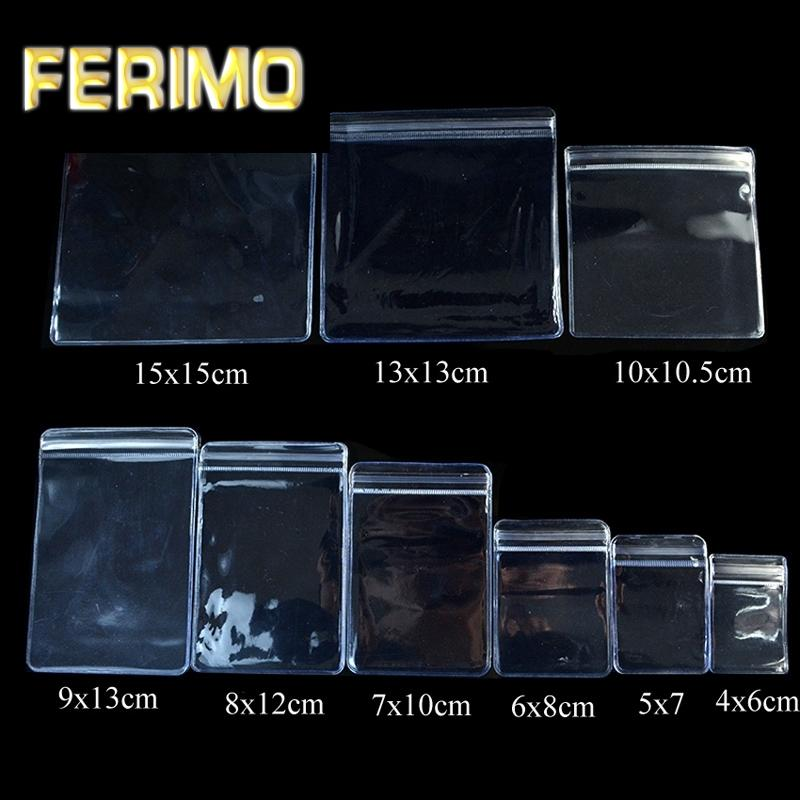 100pcs- PVC transparent 0.25mm Emballage Les sacs en plastique de judas sacs de rangement de bijoux anti Oxydation Fermeture à glissière refermables