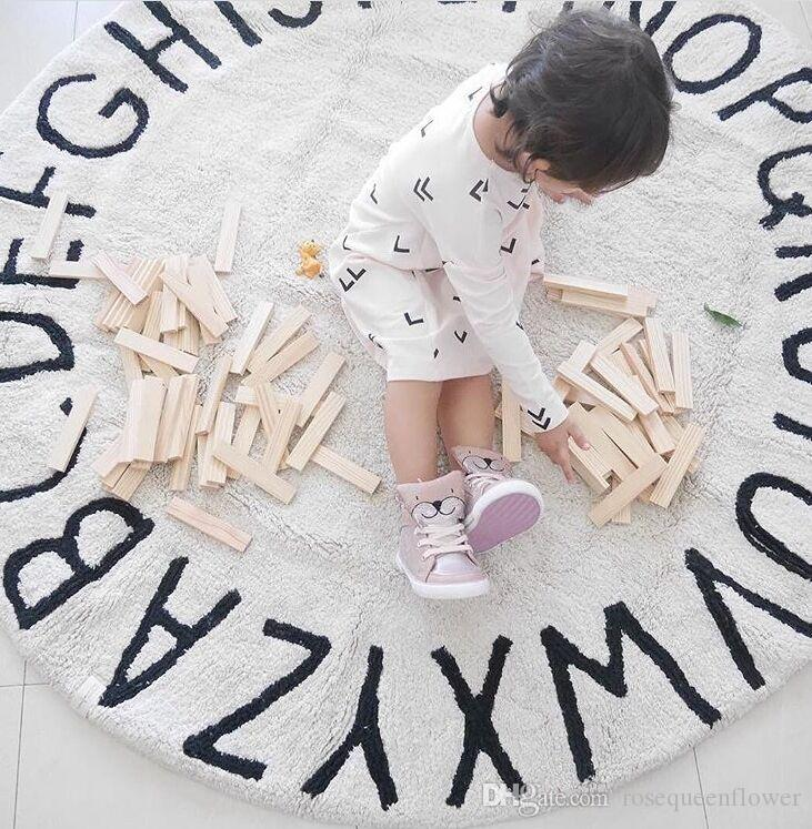120CM Kid Play Tappetini per il gioco Baby Gym ABC Alfabeto Istruzione Gioca Soft Rugs Cotton Crawling Coperta Pavimento Carpet Toy Room Decoration