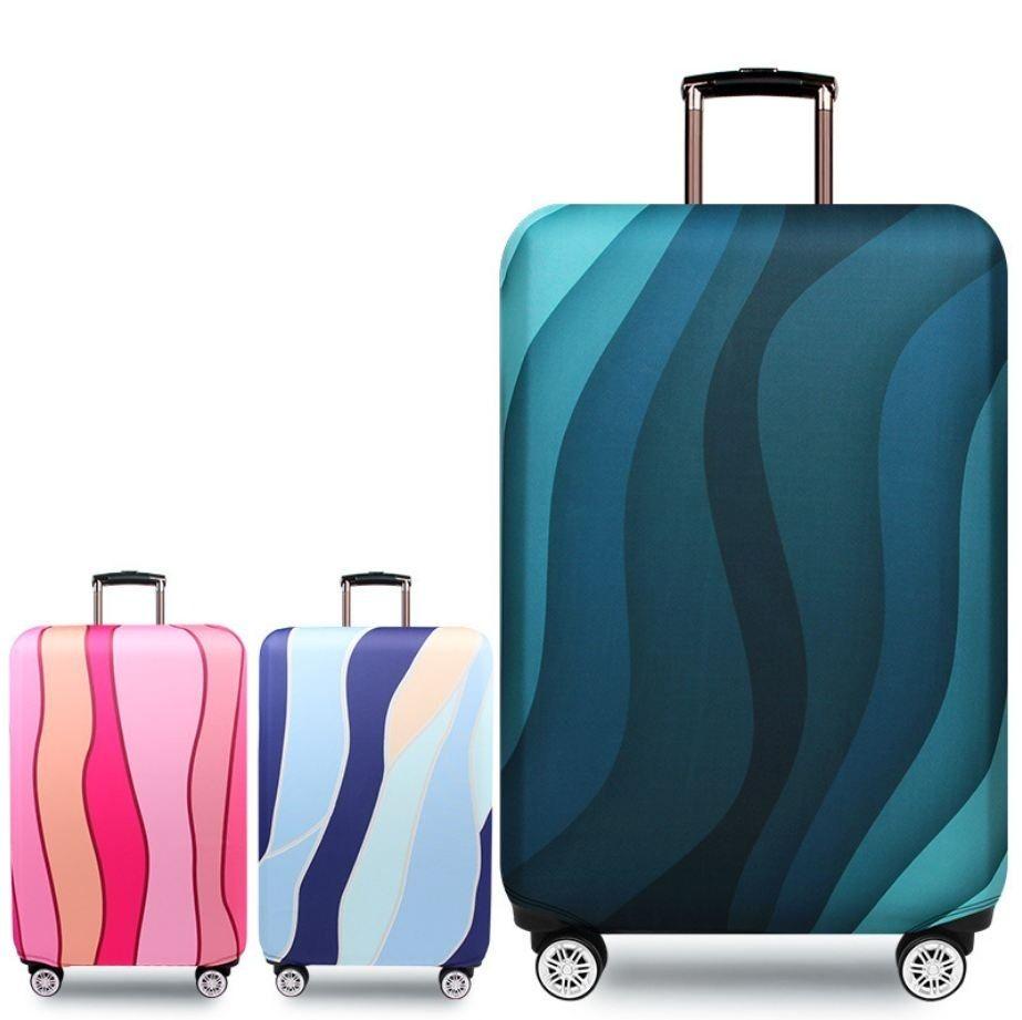 Tapa protectora de equipaje de viaje superior más gruesa Estuche de maleta Accesorios de viaje Funda antipolvo de equipaje elástico Aplicar a maleta de 18 '' - 32 '' (al por menor