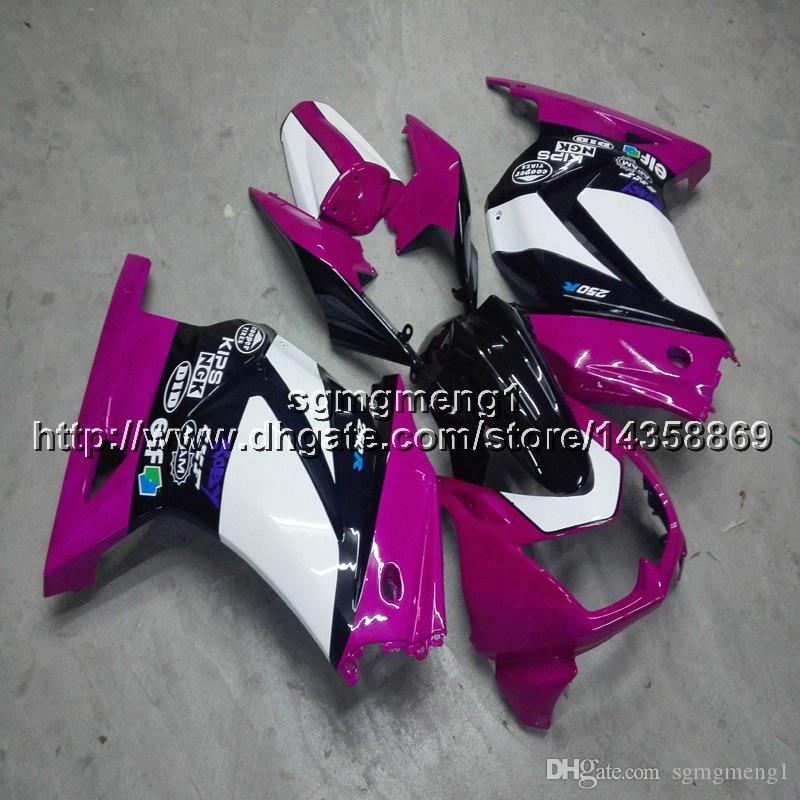 23colors+Screws+Gifts Injection mold pink motorcycle cowl for Kawasaki ZX250R 2008-2012 EX250 2009 2010 2011 ABS motor Fairing
