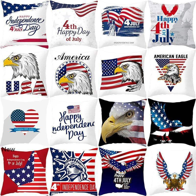 Pillowcase American Flag Independence Day Decoration Pillow Case Home Striped Star Case Cover Sofa Cushion DDA25