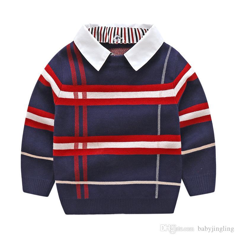 بنين Sweatershirt الخريف الشتاء العلامة التجارية الترفيه سترة معطف سترة toddle طفل صبي سترة 2 3 4 5 6 7 سنوات الأولاد الملابس