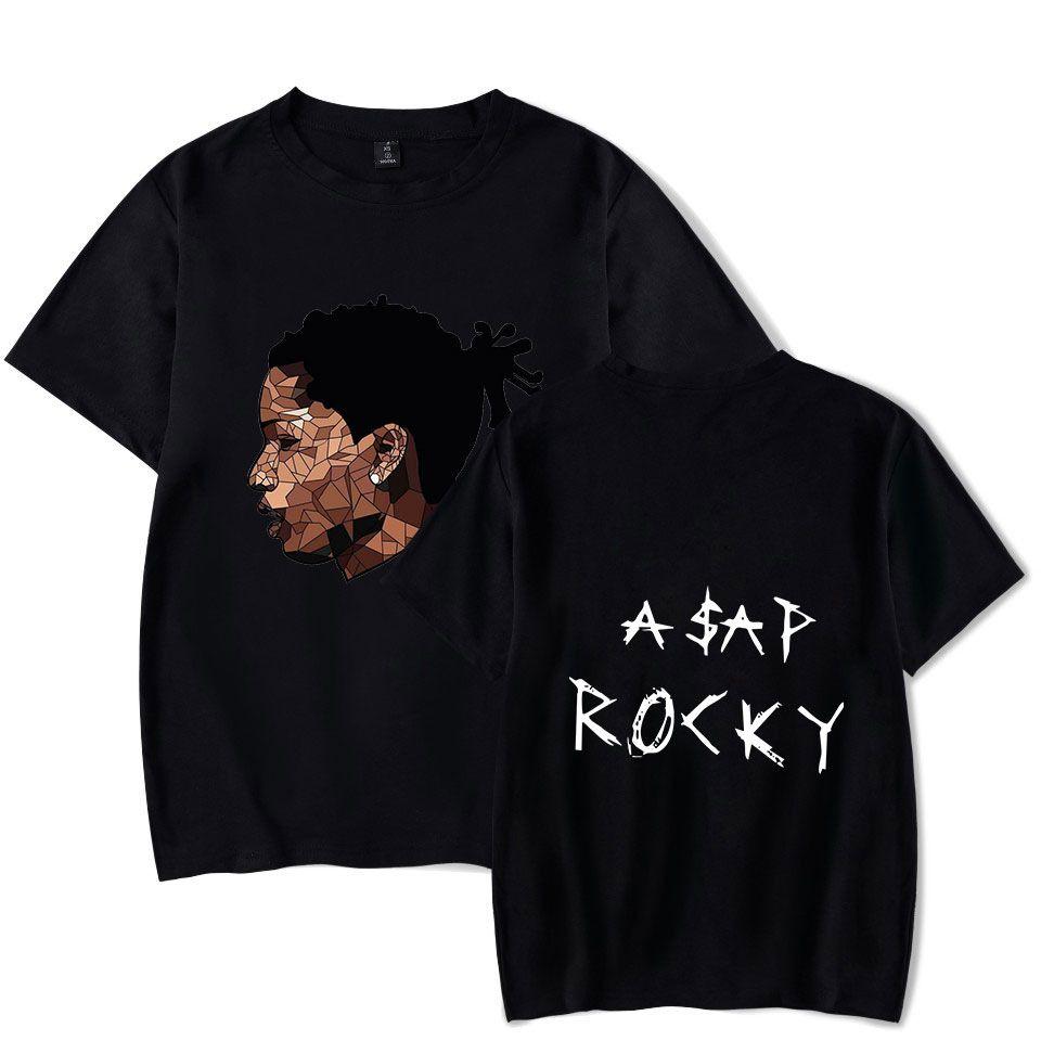 Streetwear Hip Hop ASAP Rocky Camiseta Harajuku Casual algodão de manga curta Homens Mulheres T-shirt do moderno gráfico fresco camiseta