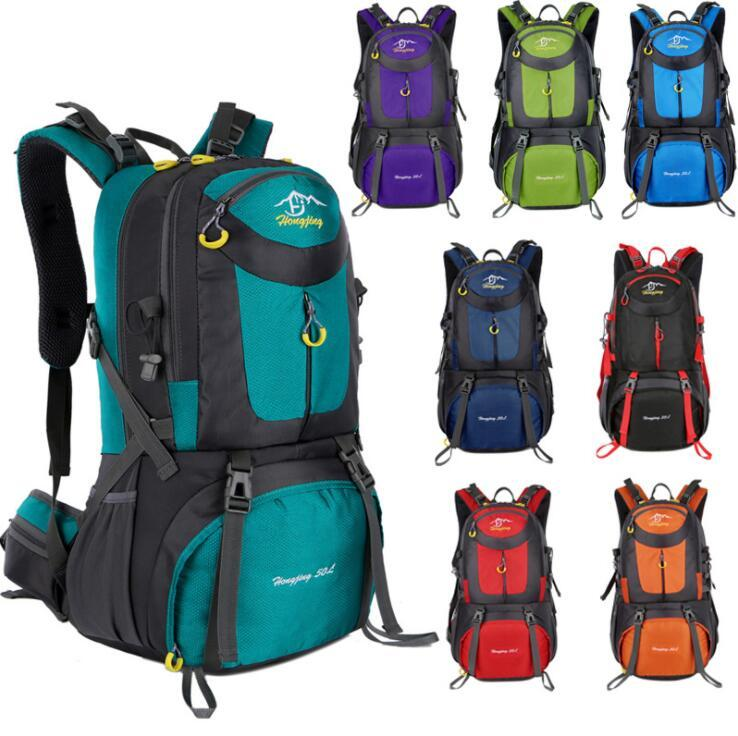 Nylon+Canvas Schoolbag Male and female shoulder bags High-capacity Computer package Leisure backpack Unisex Multifunctional outdoor 40L 50L