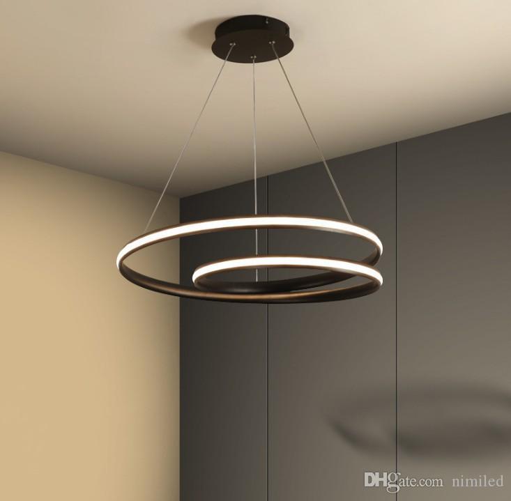 Moderna luci a sospensione LED Apparecchio Suspendu Light Fixtures Per soggiorno sala da pranzo Lampara Pendente De Techo Hanging Lamp LLFA