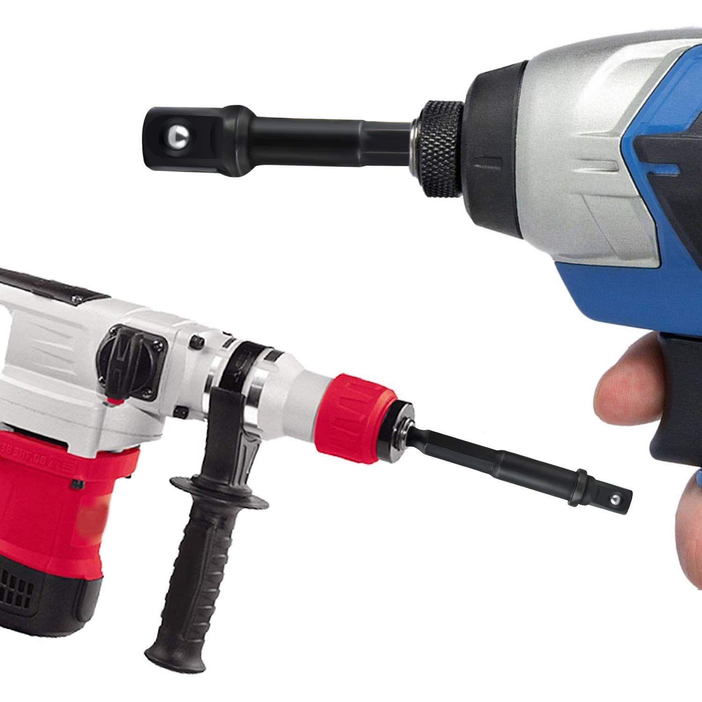 "1Set Hex Drill Bit Socket Adapter Drive Electric Impact Driver 1//4/"" 3//8/"" 1//2/"" TR"
