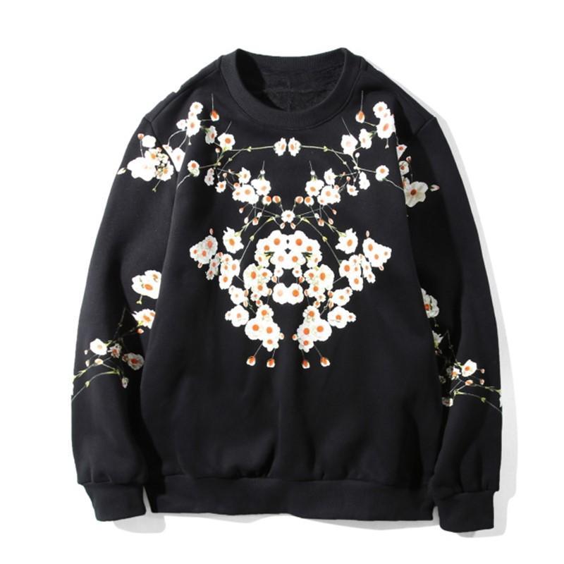 19FW de Sweatshirts Mode d'impression de haute qualité Hommes Femmes Sweats à capuche unisexe à manches longues Noir Taille de S-2XL