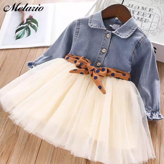 الفتيات الملابس 2021 ربيع الخريف الأميرة تحلق كم الاطفال اللباس يونيكورن حزب طفل الأطفال ملابس 3-8y