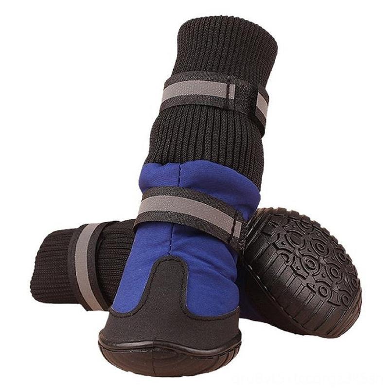 프로모션! 대형 개 공급에 대한 큰 소프트 방수 부츠 애완 동물은 개 신발 용품 - 블루 XL을