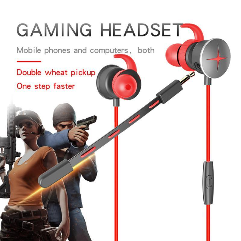 V7 Wired Gaming Headset Deep Bass Game Earphones 3 5mm Y Splitter Microphone In Ear Jack For Computer Mobile Phone Chicken Games Headsets Wired Cell Phone Headsets Wireless Cell Phone Headsets From Faone17