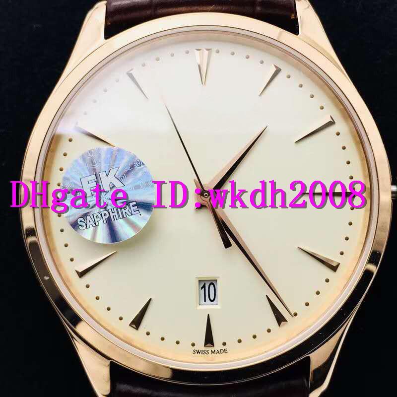 FK Extra-Thin MASTER 1288420 Роскошные Часы швейцарские 9015 автоматические механические 18k розовое золото из нержавеющей стали 316L Дата Наручные часы Sapphire