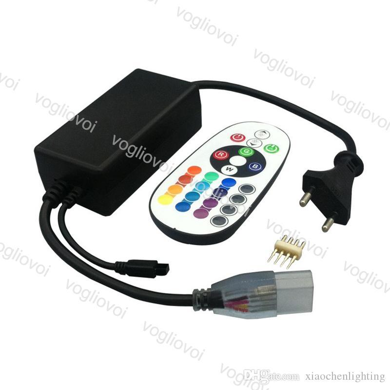 Controladores RGB AC110V 220V RGB Controlador de tira de LED 24 teclas Controle remoto RF sem fio para RGB LED Tira DHL