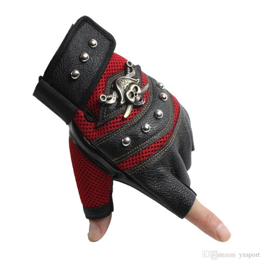 Half finger gloves street dance performance punk fashion fashion outdoor riding rock climbing sports gloves