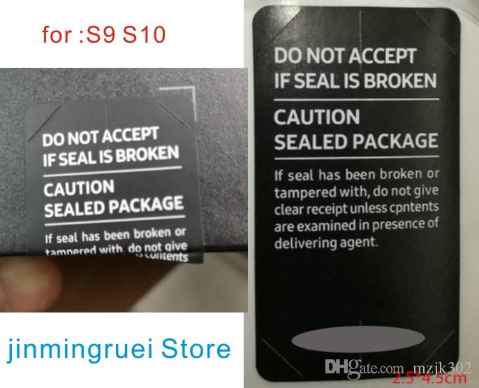 1000pcs/lot SIM Card Seal Label Sticker For SAMSUNG Galaxy S8 S9 S10 Phone Package box sealing strip