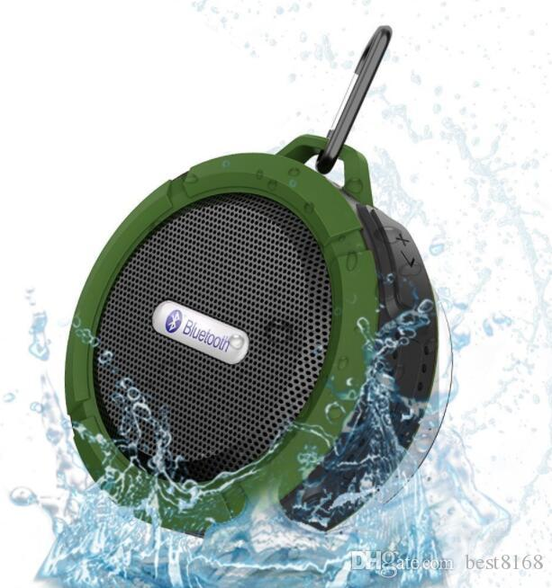 C6 Speaker Bluetooth Speaker Wireless Potable Audio Player Waterproof Speaker Hook Suction Cup Stereo Music Player With Retail Package