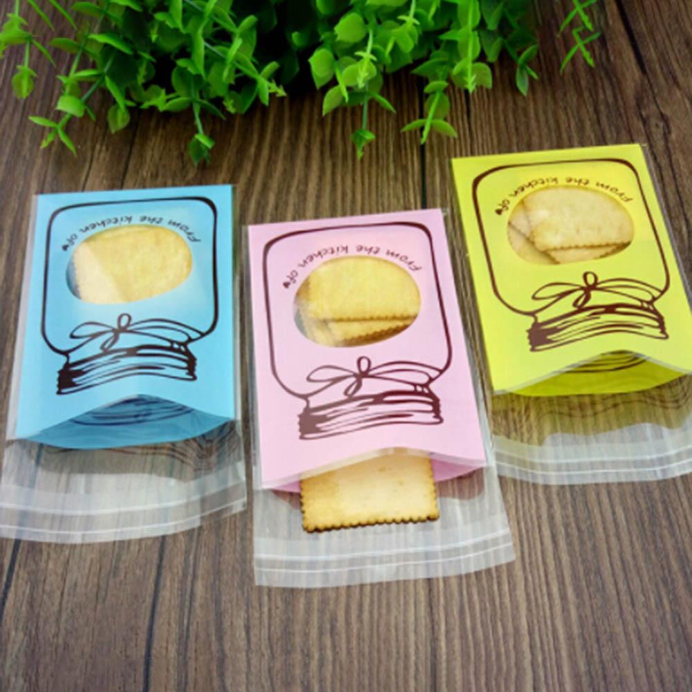 95 adet Kendinden yapışkanlı Şeker Çerez Hediye Çantası Plastik Şeffaf Güzel Şişe Desen Düğün Doğum Günü Parti Malzemeleri