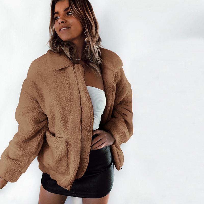 Womens Coats roupas de primavera Autumn lapela Neck manga comprida cor sólida senhoras Outerwears Casual Sexy Feminino