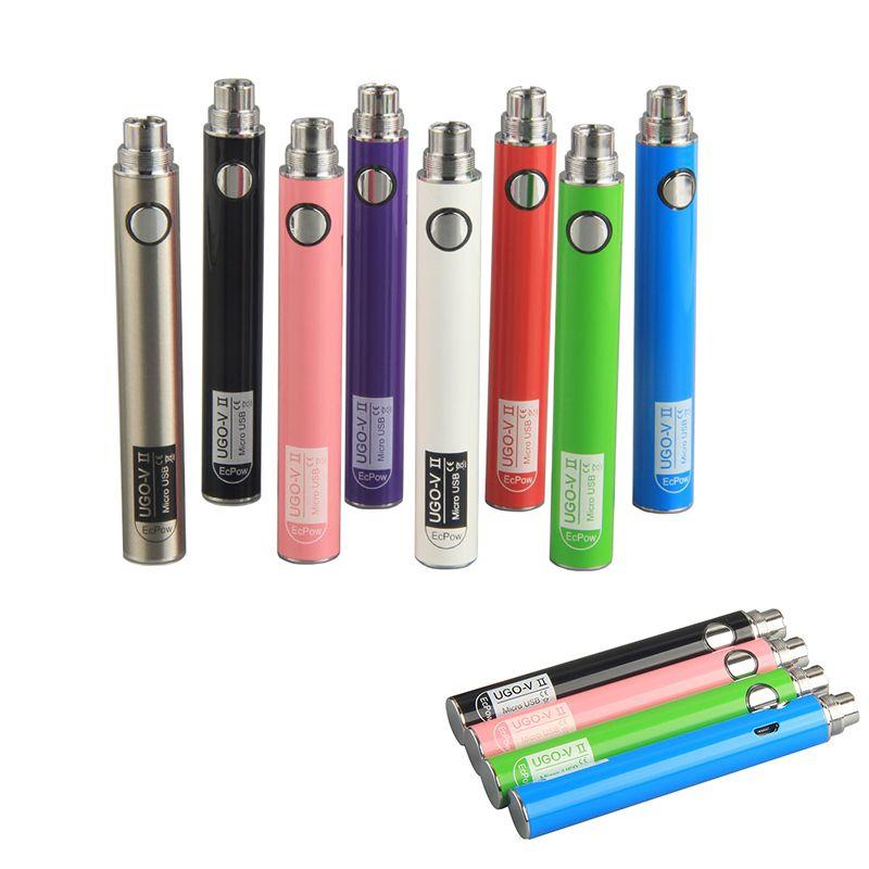 510 batería hilo de precalentamiento batería cartucho vape UGO-V II para 510 vaporizador pluma cartuchos 650mAh 900mAh vape baterías
