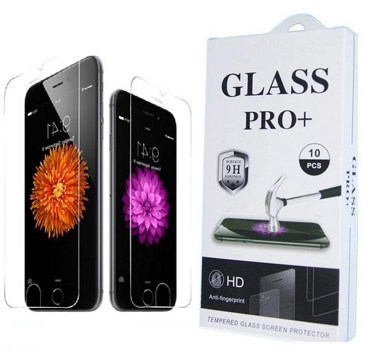 9H المضادة للصدمة شاشة حامي شاشة خفف بريميوم لسامسونج S7 فون 5SE 6 6S بالإضافة إلى الزجاج المقسى سامسونج 2.5D