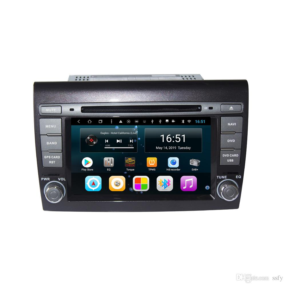 Android car player with precise GPS Resolution HD 1024 * 600 multi-touch screen bluetooth lossless mp3 mp4 music for Fiat Bravo 7inch