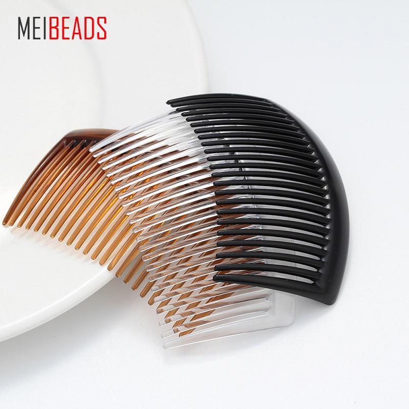MEIBEADS 5 adet / lot Şeffaf Plastik Diş Tarak Eklenen Tarak Klip DIY El Yapımı Saç Takı Malzeme Ürünler Aksesuar UF7556