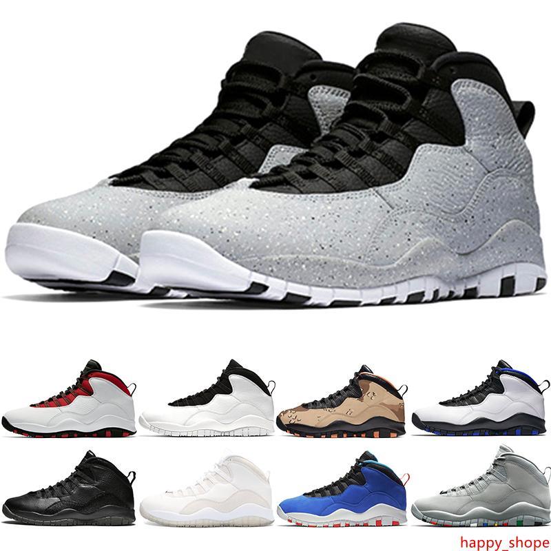 Cemento 10 10s Zapatos baloncesto de los hombres Westbrook Gris frío Estoy Volver Tinker hombre blancas Negro Diseñador Trainer Sport zapatillas de deporte barato Tamaño 8-13