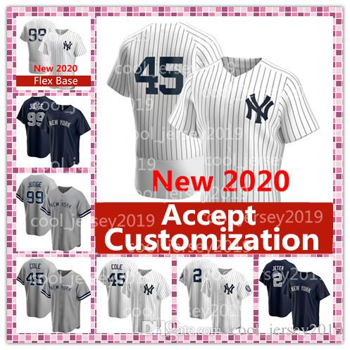 Accepter la personnalisation New York 2020 45 Gerrit Cole 99 Aaron juge Maillots Derek 2 Sanchez Torres Stanton Jeter Customized Base-ball Maillots