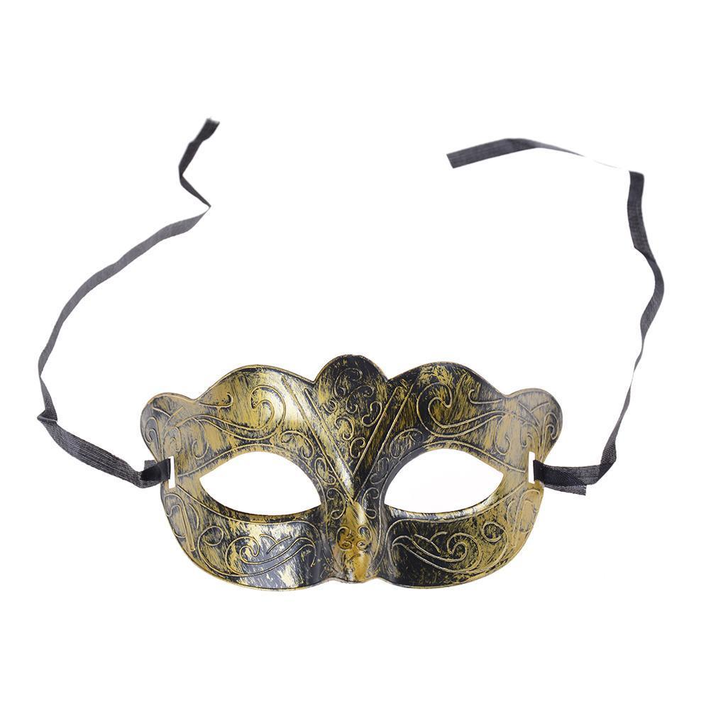 Antique Burnished Silver//Gold Venetian Mardi Gras Masquerade Ball Mask Party