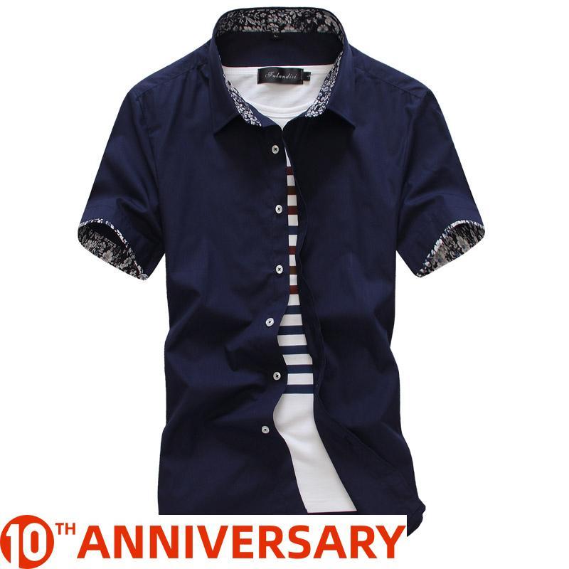 MarKyi 2020 manches courtes d'été des hommes floraux chemises habillées taille plus mince hommes valides de chemise sociale occasionnels bonne qualité de Y200408