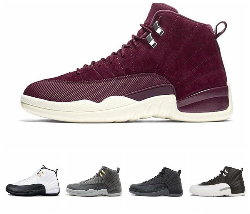 12 12s sapatos de Basquete Masculino Jogo Real triplo Gym Preto Vermelho Flu jogo GAMMA AZUL o mestre dos homens Sports Sneakers tamanho 7-12