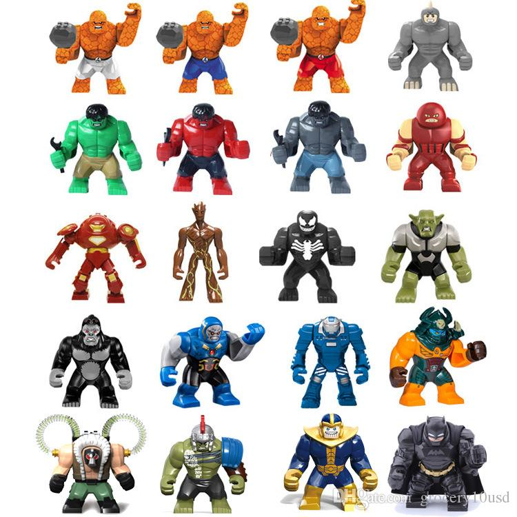 Single Sale Big Decool Super Heroes 7.5cm avengers Hulkbuster Bane thanos