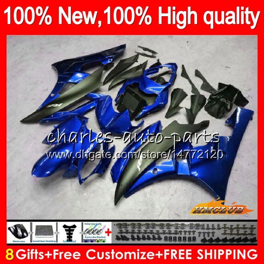 Corps OEM YAMAHA YZF R 6 600CC 600 YZF nouveau bleu métal YZF600 06-07 Cadre 61HC.115 YZFR6 YZF600 YZF R6 YZFR6 06 07 2006 2007 Carénage Kit