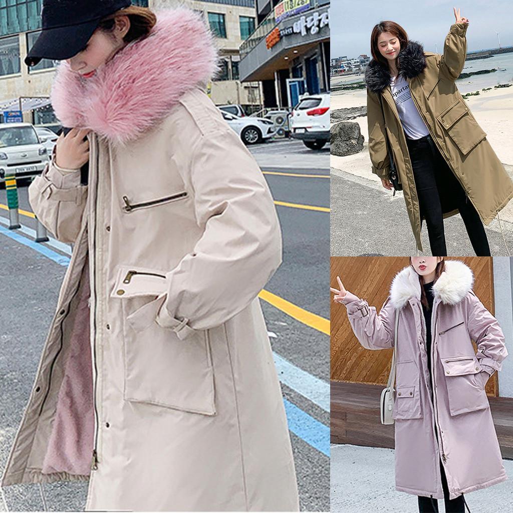 Parka lane di modo delle donne Zipper Pocket con cappuccio con coulisse lunghe giacche Wasit allentato manica lunga Outwear Coat corrisponde alla taglia S-XL