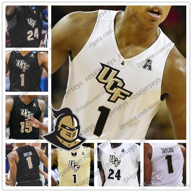 NCAA UCF Knights # 2 Terrell Allen 15 Aubrey Dawkins 35 Collin Smith 12 Dazon Ingram Gold White Black Men Youth Kid Jersey 4XL