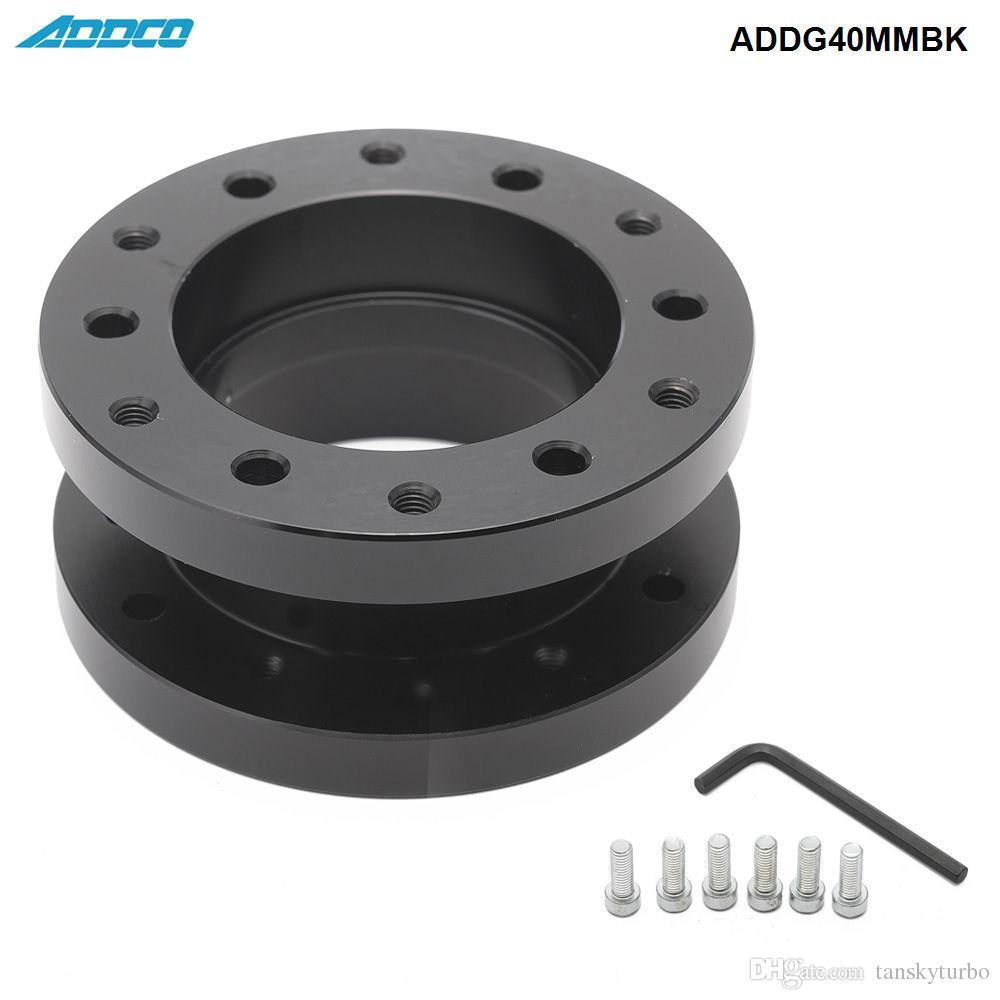 ADDCO Racing Car Styling Voiture / Véhicule Alliage d'aluminium 40mm Hauteur du volant Adaptateur Entretoise ADDG40MMBK